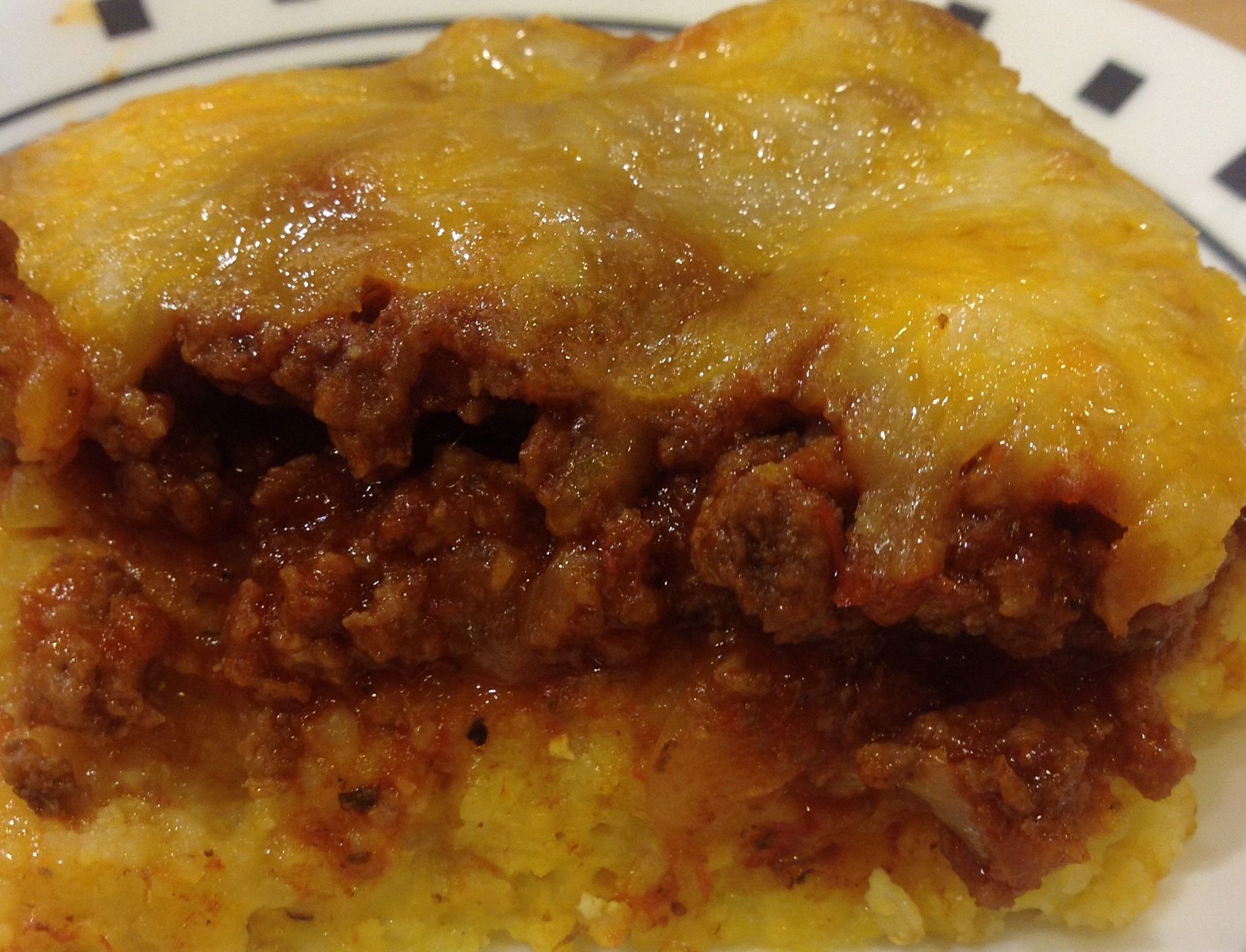 Easy Gluten and Dairy Free Polenta, Tomato and Beef Casserole ...